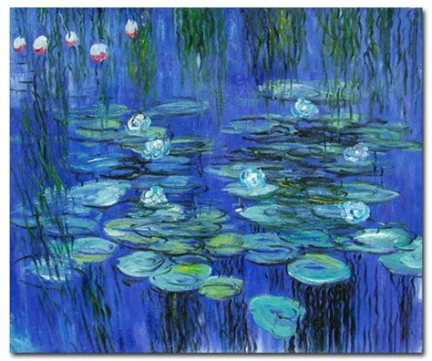 blue paintings blue water lilies monet paintings canvas paintings
