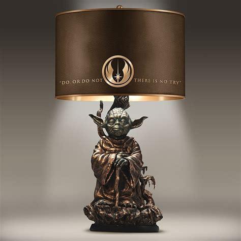 star wars yoda bronze colored resin lamp