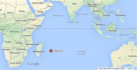 Mauritius On World Map by Where Is Mauritius Location Map Of The Island