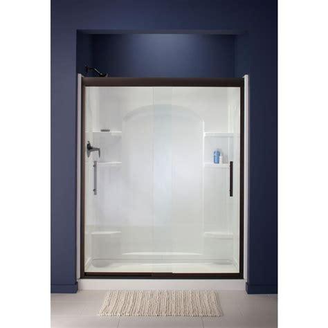 Sterling Finesse 59 5 8 In X 55 1 2 In Heavy Sliding Sterling Glass Shower Doors