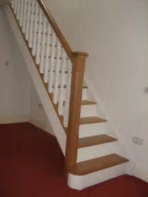 Oak Staircase Oak And White Staircase With White Spindles Would