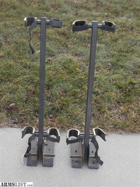rugged gear gun rack armslist for sale 2 rugged gear floor mount gun racks