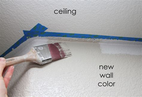 How To Paint Between Ceiling And Wall fixing an uneven ceiling line build remodel and