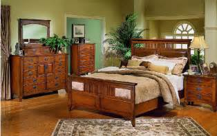 mission style bedroom set with distressed accents