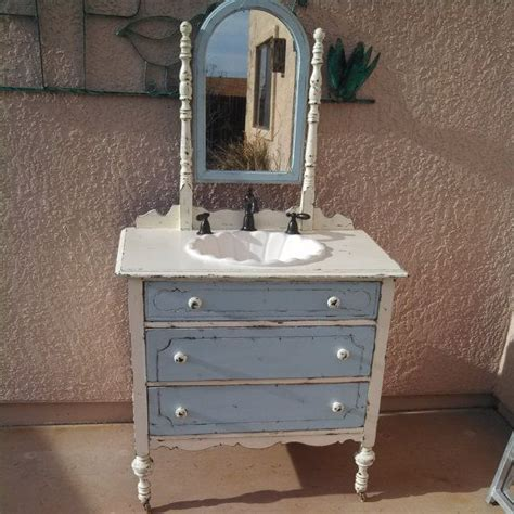 repurposed antique dresser bathroom vanity sink