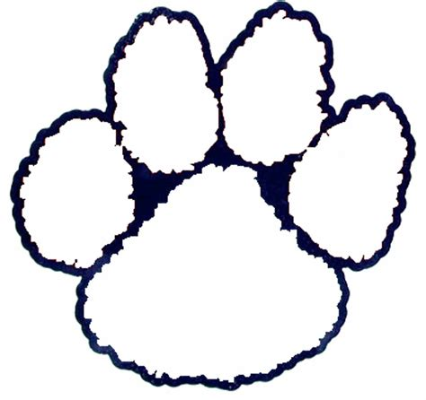 tiger paw outline clipart best