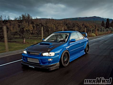 subaru gc8 coupe 1998 subaru impreza 2 5rs coupe modified magazine