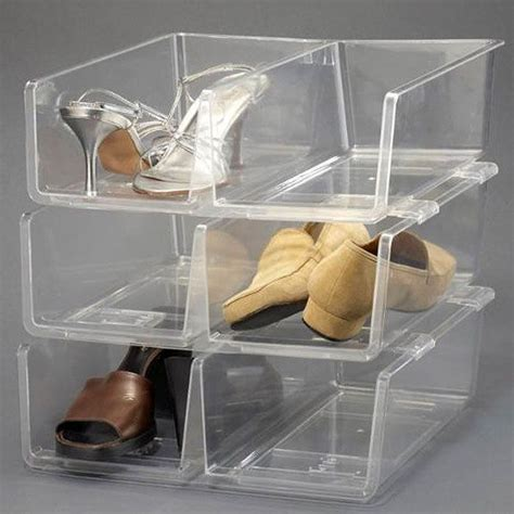clear storage shoe boxes stackable clear shoe storage stackable clear plastic
