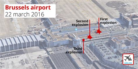 brussels airport breaking three explosions at brussels airport tuesday