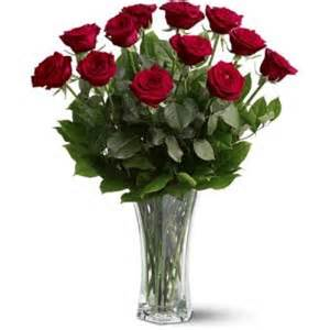 punsons flora dozen roses in vase send flowers to