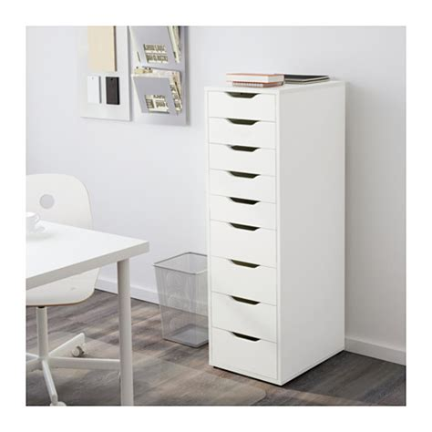 Alex 9 Drawer alex drawer unit with 9 drawers white 36x116 cm