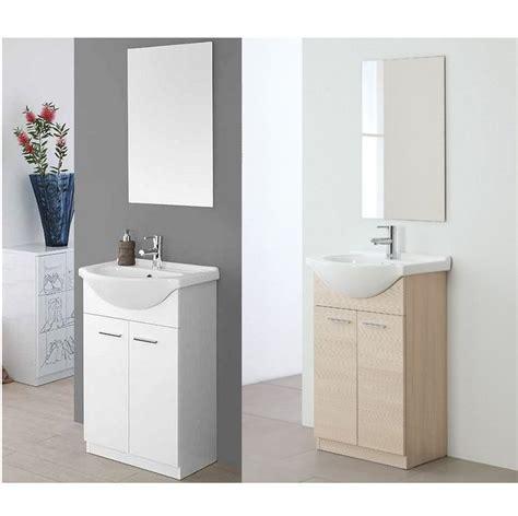 mobili bagno a due lavabi mobile bagno rovereto cm 56 due ante a terra con zoccolo