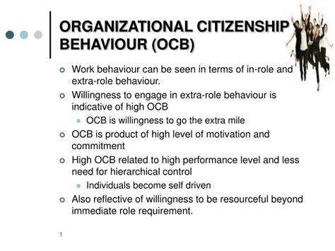Organizational Citizenship Behavior Mba Ppt ppt organizational citizenship behaviour ocb