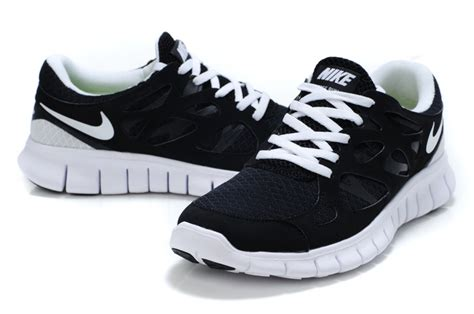 black and white athletic shoes sale popular nike free run 2 mens black white running