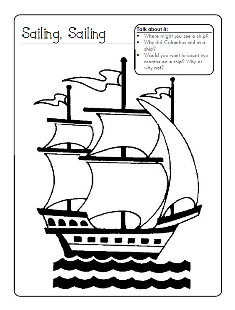 coloring pages columbus day printable free columbus day printables az coloring pages