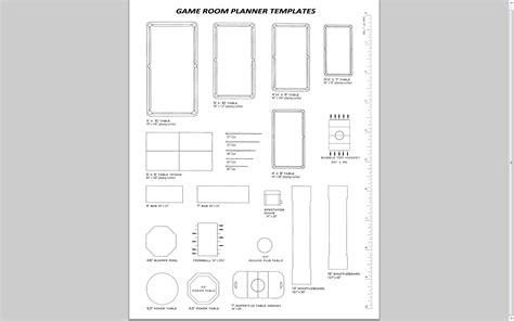 room planning template toronto billiard service inc