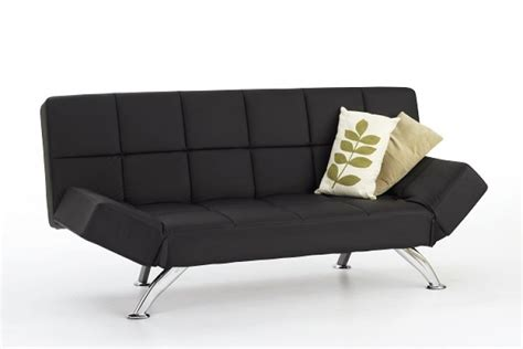 Arms Length Co Sleeper by Serene Venice Black Faux Leather Sofa Bed By Serene Furnishings