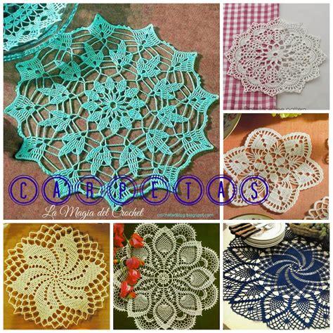 carpeta de crochet patron es la magia del crochet carpetas a crochet