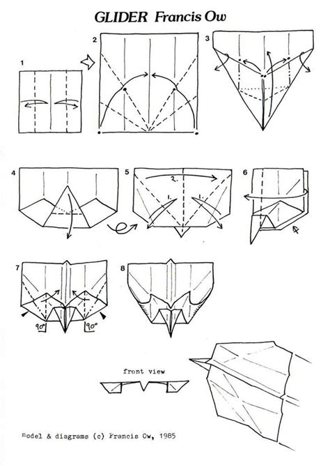 How To Make An Origami Hang Glider - origami gliders 28 images the most rootinest tootinest