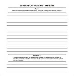 screenplay format template screenplay outline template 8 free word excel pdf