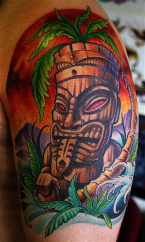 tiki man tattoo designs tiki by norris tropical