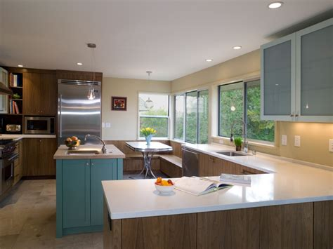 Over Island Kitchen Lighting by Mid Century Kitchen Remodel Modern Kitchen Seattle