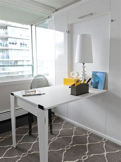 Space Saving Hideaway Desks For Small Apartment Designs Desks For Small Apartments