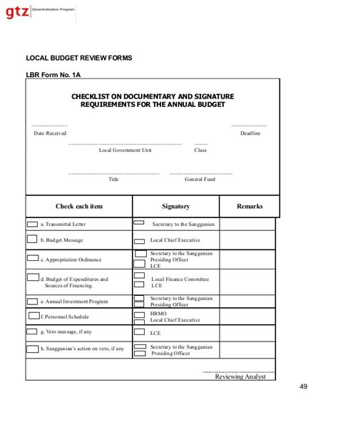Budget Transmittal Letter Vol5 Lgu Budget And Expenditure Management Tools