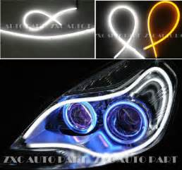 Led Auto Light Strips 2x Led Auto Daytime Running Light Dual Color 850mm 12v High Quality Car Headlight White