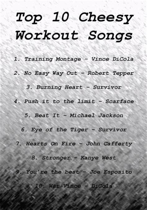 best workouts songs cheesy motivational workout songs beginner workout routines