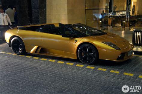 Unique Lambo Versace Roadster by Spotted Unique Golden Lamborghini Murci 233 Lago Roadster