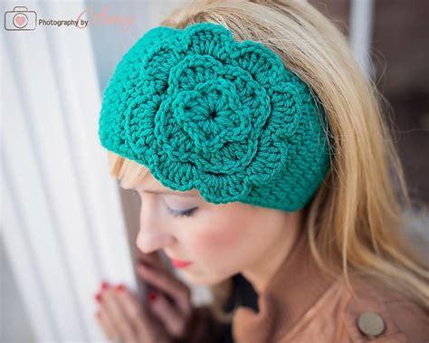 Head Wrap Crochet Pattern | free pattern easy crochet head wrap with flower
