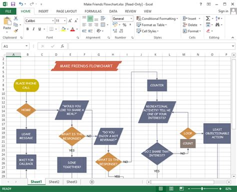 how to make a flowchart in excel editable flowchart templates for excel