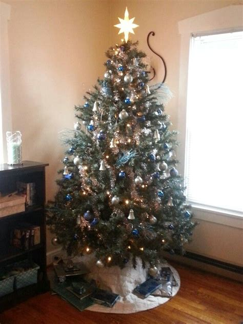 christmas trees tourquoise and silver blue light blue turquoise silver tree trees
