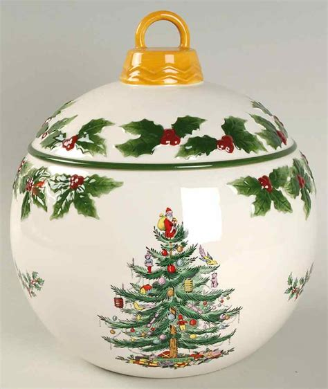 spode christmas tree bauble cookie jar s7921643g3