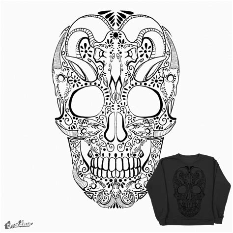 Free Coloring Pages Of Mexican Skull Mexican Skull Coloring Pages