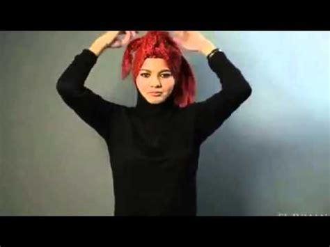 tutorial pashmina model turban tutorial hijab pashmina turban shawl faux mowhawk tutorial