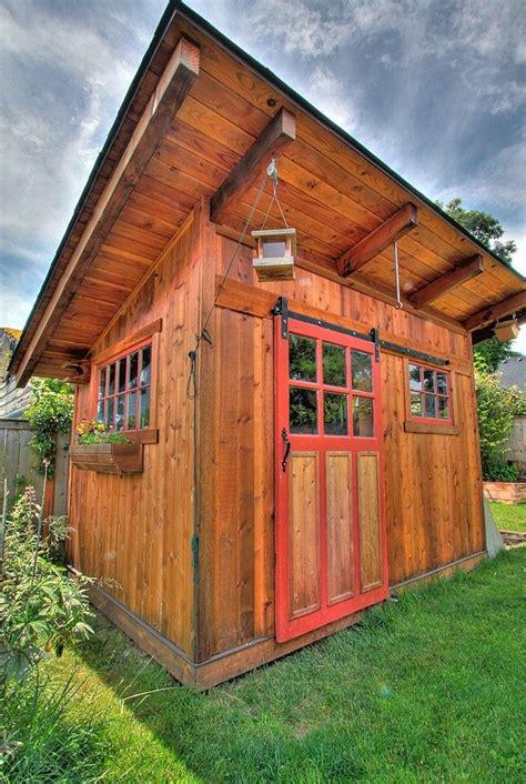 the garden shed sliding barn door windows
