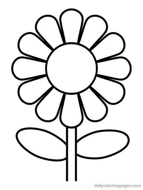 Flower Coloring Pages For Kids Flower Coloring Page Coloring Pages For Flowers