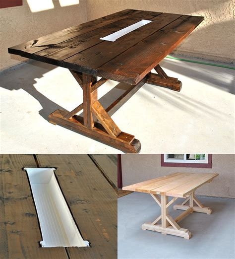 Patio Table With Cooler Plans by 13 Diy Cooler Table Plans To Build For Outdoor
