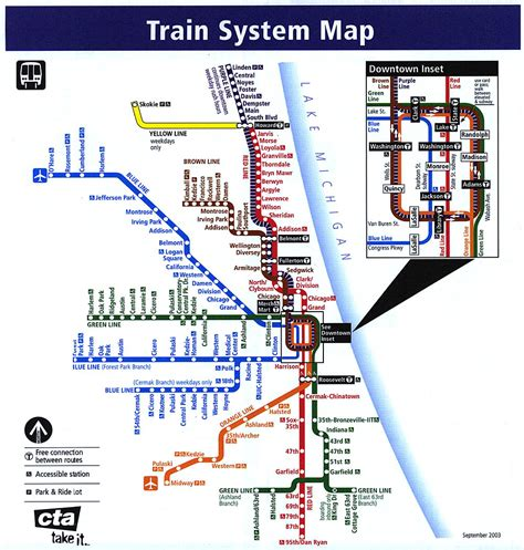chicago elevated map chicago l org system maps route maps