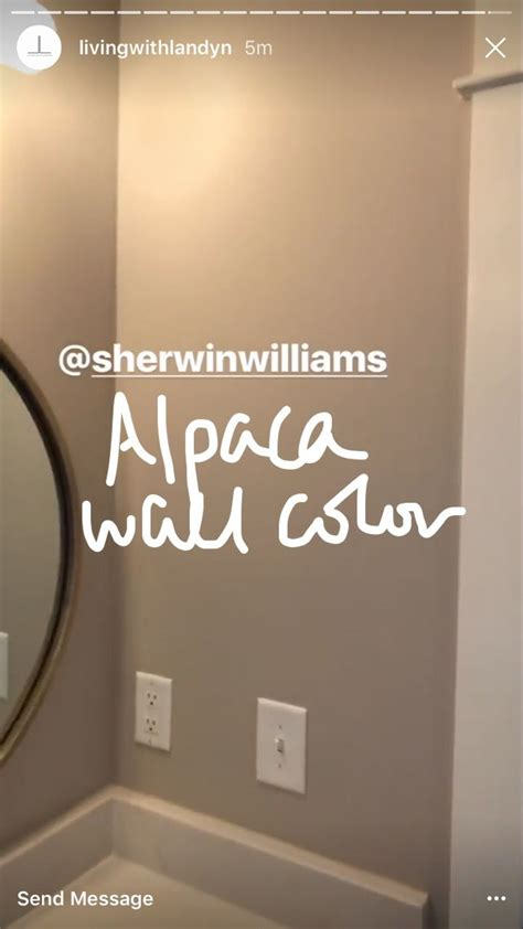 sherwin williams alpaca wall color paint colors  home
