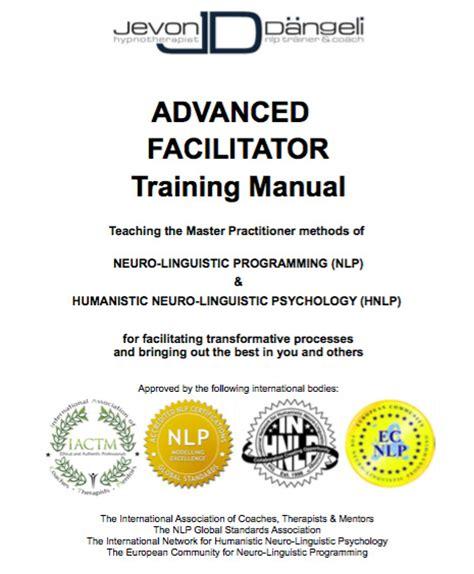 nlp advanced facilitator training manual jevon dangeli com