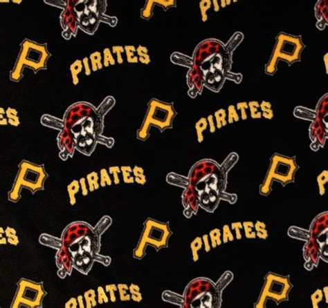 Foust Textiles Inc Fabrics Pittsburgh Pirates Fleece
