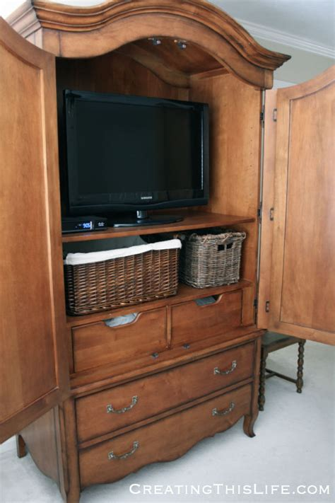bedroom armoire tv tv dresser armoire island bed garden plans