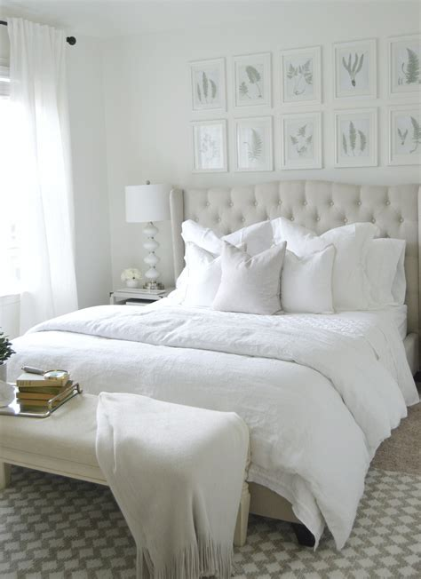 white and cream bedding the ultimate white bedroom pottery barn
