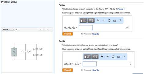 what is the charge on the capacitor express your answer in nc part a what is the charge on each capacitor in the chegg