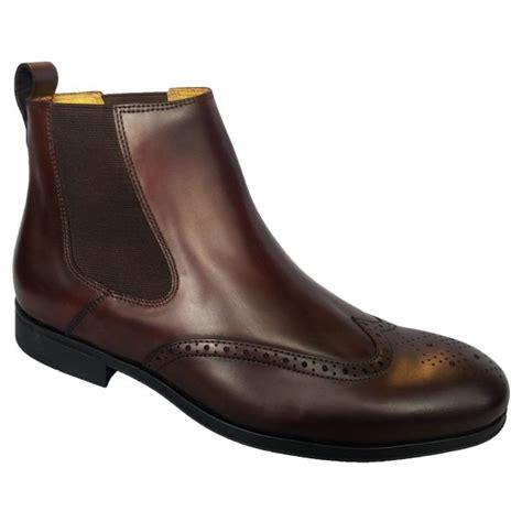 steptronic mens bassett brown chelsea boots