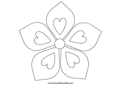 immagini fiore da colorare fiori da colorare 5 petali kvety