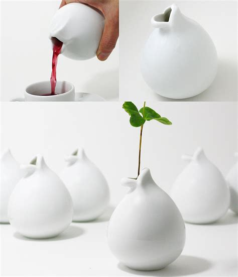 Teapot Vase by Chu Lip Ceramic Cup Teapot Vase Vessel The